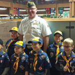 Dale Pack with Cub Scout Troop