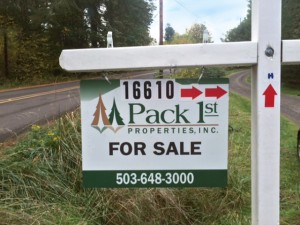 Pack First Home for Sale signage
